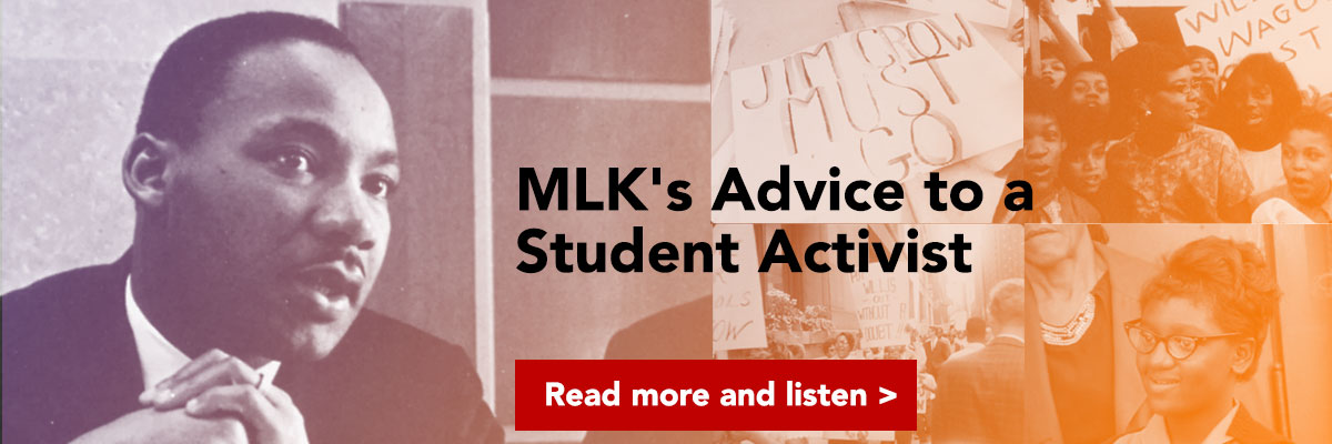 MLKs advice to a student activist